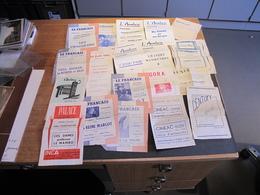 19 PROGRAMMES DE CINEMAS - ANNEES 50/60 - Programmi