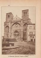 1933 - Iconographie - La Chaise-Dieu (Haute- Loire) - La Façade De L'abbaye - FRANCO DE PORT - Vieux Papiers