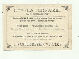 Brugge -   Reclamekaart - Hotel LA TERRASSE - 2 Scans - Brugge