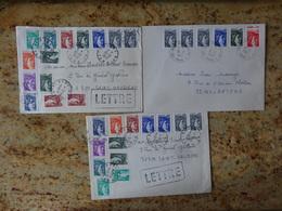 Affranchissement Sabine Lot De 3 Documents Differents - Marcophilie (Lettres)
