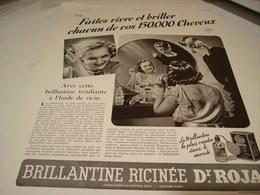 ANCIENNE AFFICHE PUBLICITE 150.000 CHEVEUX BRILLANTINE ROJA 1939 - Parfums & Beauté