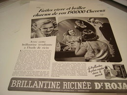 ANCIENNE AFFICHE PUBLICITE 150.000 CHEVEUX BRILLANTINE ROJA 1939 - Perfume & Beauty