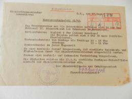 Militaria - Armentières (59) - Document En Allemand De La Standortkommandantur D'Armentières - 1942 - Documents