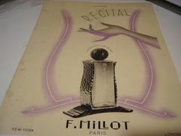 ANCIENNE PUBLICITE PARFUM RECITAL F.MILLOT 1939 - Perfume & Beauty