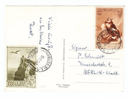 San Marino AIRMAIL POSTCARD TO Germany 1939 - Saint-Marin