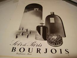 ANCIENNE PUBLICITE PARFUM SOIR DE PARIS BOURJOIS 1939 - Perfume & Beauty