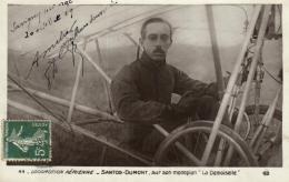 """B 9670 - Santos - Dumont    Sur Son Monoplan """" La Demoiselle """" - Aviateurs"""