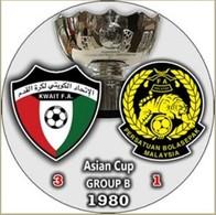 Pin Asian Cup 1980 Group B Kuwait Vs Malaysia - Fussball