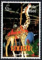 Vignette Cinderella Seal Label Giraffes Girafes Giraffen Girafe Giraffe Jirafa Jirafas - Mammals Fauna  Cinderellas - Giraffe