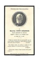 IMAGE RELIGIEUSE MAURICE HENRI COUANNIER ANCIEN LIEUTENANT DE VAISSEAU 24 OCTOBRE  19119 - Devotieprenten