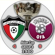 Pin Asian Cup 1980 Group B Kuwait Vs Qatar - Fussball