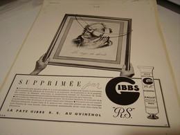ANCIENNE PUBLICITE DENTRIFICE RAGE DE DENTS  GIBBS  1939 - Advertising