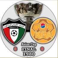 Pin Asian Cup 1980 Final Kuwait Vs South Korea - Fútbol