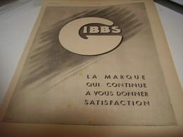 ANCIENNE PUBLICITE SATISFACTION DE LA MARQUE  GIBBS 1941 - Perfume & Beauty