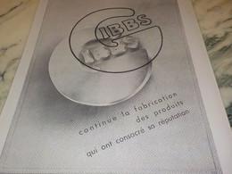 ANCIENNE PUBLICITE CONTINUE LA FABRICATION DE LA MARQUE  GIBBS 1941 - Perfume & Beauty