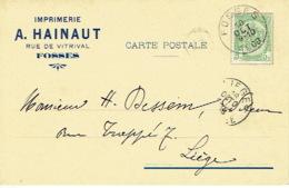 CP/PK Publicitaire FOSSES 1908 - A. HAINAUT - Imprimerie - Fosses-la-Ville