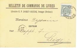 CP/PK Publicitaire GENAPPE 1910 - E.P. DOHET-BAUDE - Librairie - Genappe