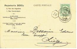 CP Publicitaire HUY 1906 - Entête Papeterie NOEL - Imprimerie-librairie-lithographie-reliure - Hoei