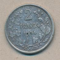 België/Belgique 2 Fr Leopold II 1904 Fr Morin 194 (1191450) - 1865-1909: Leopold II
