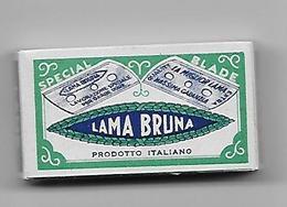 PACCHETTO DI 10 LAMETTE DA BARBA - LAMA BRUNA -   ANNO 1940 -  POCO COMUNE - Razor Blades