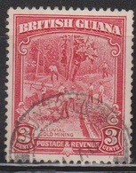 BRITISH GUIANA Scott # 212 Used - KGV & Gold Mining - Guyane Britannique (...-1966)