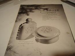 ANCIENNE PUBLICITE PARFUM SEVRES  DE SAUZE   1941 - Parfums & Beauté
