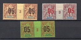 !!! PRIX FIXE : GUINEE, N°48, 49 ET 51 EN PAIRES AVEC MILLESIMES NEUVES * - Unused Stamps