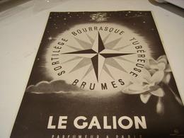 ANCIENNE PUBLICITE PARFUM LE GALION 1941 - Perfume & Beauty