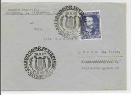 OBLITERATION ILLUSTREE (SONDERSTEMPEL) - AUTRICHE - 1952 - FESTIVAL MUSIQUE De SALZBOURG - 1945-60 Brieven