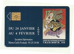 Monaco - Tessera Telefonica Da 50 Units T544, - Monaco