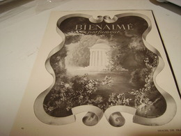 ANCIENNE PUBLICITE PARFUM BIENAIMEE DE HOIBIGAN 1941 - Parfums & Beauté