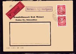 DDR, Verwaltungswertpost  7.04.55 - DDR