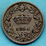T1b /  ITALY / ITALIE  20 Centesimi 1894 KB - 1861-1946 : Royaume