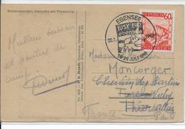 OBLITERATION ILLUSTREE (SONDERSTEMPEL)  - AUTRICHE - 1948 - CARTE De EBENSEE - 1945-60 Brieven