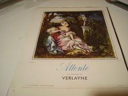 ANCIENNE PUBLICITE PARFUM ATTENTE  DE VERLAYNE 1941 - Perfume & Beauty