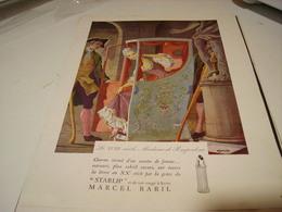 ANCIENNE PUBLICITEROUGE A LEVRE STARLIP  DE BARIL 1941 - Parfums & Beauté