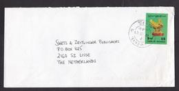 Myanmar: Airmail Cover To Netherlands, 1 Stamp, Golden Bird, Art, Heritage (traces Of Use) - Myanmar (Burma 1948-...)