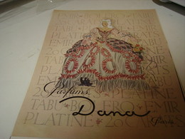 ANCIENNE  PUBLICITE PARFUM DE DANA 1941 - Perfume & Beauty