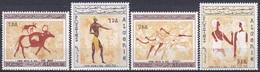 Algerien Algeria 1966 Kunst Arts Kultur Culture Felszeichnungen Petroglyphs Tassili N'Ajjer, Mi. 444-7 ** - Algerien (1962-...)