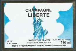 Etiquette CHAMPAGNE Statue De La Liberté - Champagne