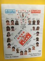 8869 - FC Sion  Champion De Suisse 1991/1992 Domaine Clos Du Château 1991 - Football