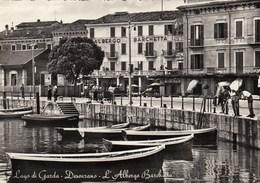 DESENZANO-BRESCIA-LAGO DI GARDA-ALBERGO=BARCHETTA=CARTOLINA VERA FOTOGRAFIA-ANNO 1950-60 - Brescia