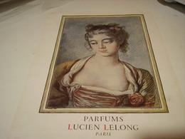 ANCIENNE PUBLICITE PARFUM LUCIEN LELONG 1946 - Perfume & Beauty