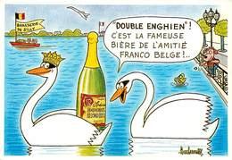Illustrateurs - Illustrateur Barberousse - Enghien Les Bains - Animaux - Cygnes - Humanisé - Autographe - Signature - Barberousse
