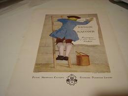 ANCIENNE PUBLICITE AVIS PARFUM RENOIR DEVIENT RAUCOUR 1946 - Perfume & Beauty