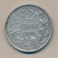 België/Belgique 2 Fr Leopold II 1909 Vl Morin 197 (119154) - 1865-1909: Leopold II