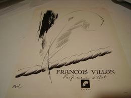 ANCIENNE PUBLICITE PARFUM FRANCOIS VILLON 1946 - Perfume & Beauty
