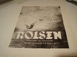 ANCIENNE PUBLICITE FOURNISSEUR DES AMBASSADES  PARFUM ROLSEN 1946 - Parfums & Beauté