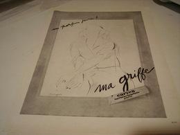ANCIENNE PUBLICITE   PARFUM MA GRIFFE DE CARVEN  1946 - Parfums & Beauté