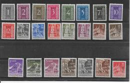 INDONESIE - 1950 - RARE SERIE RIS - YT 2/19E **/* - COTE = 900 EUR. - - Indonesien